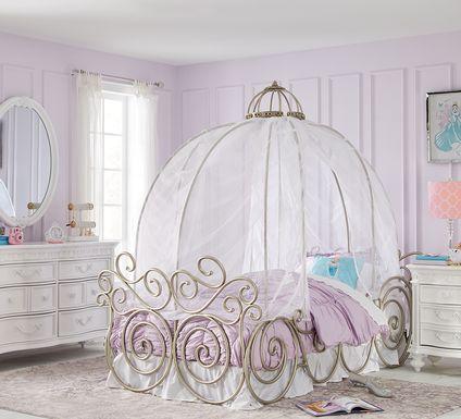 Disney Princess Fairytale White 6 Pc Twin Carriage Bedroom