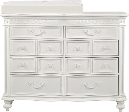 Disney Princess White Dresser with Changing Topper and Pad