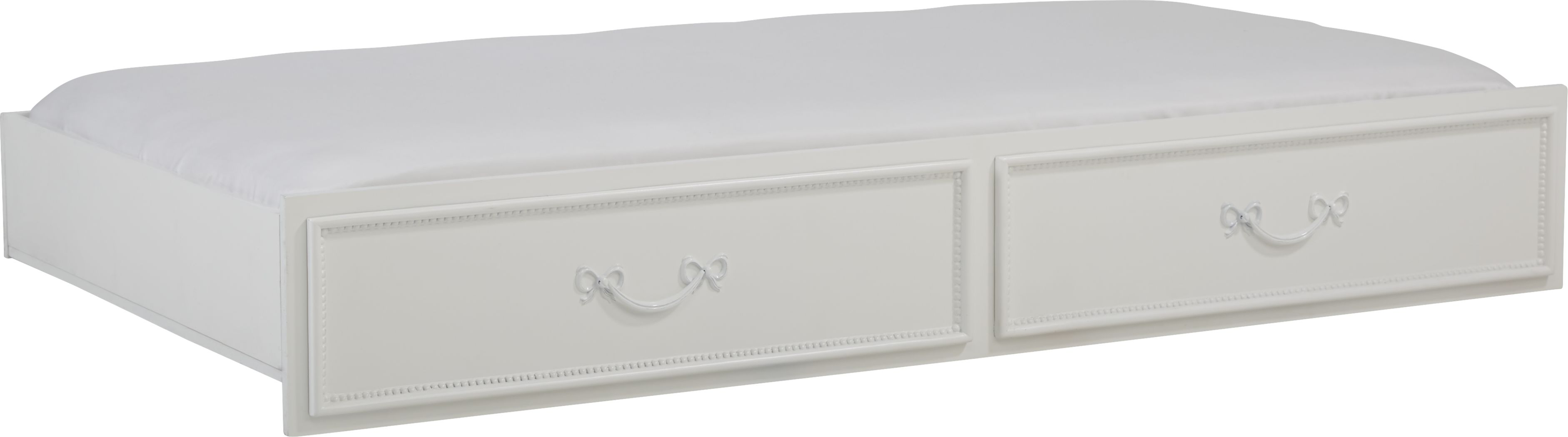 Disney Princess Fairytale White Twin Storage Trundle