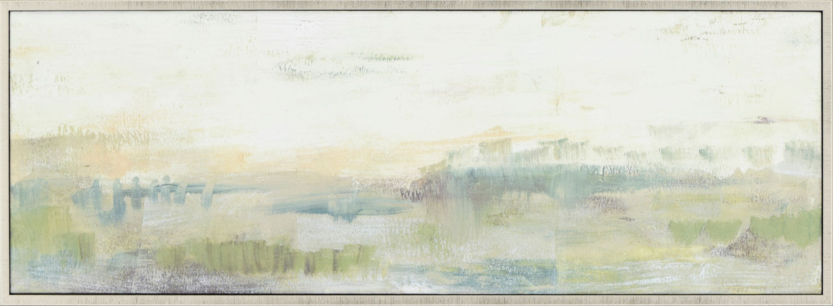 Distant Land I Green Artwork