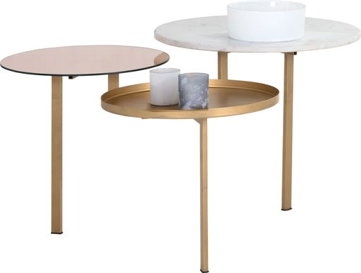 Dolunay Gold Cocktail Table