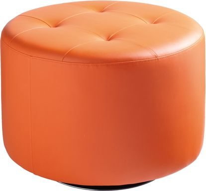 Domani Orange Large Ottoman