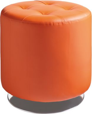 Domani Orange Small Ottoman