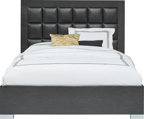 Dominique Black 3 Pc Queen Panel Bed