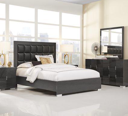 Dominique Black 5 Pc King Panel Bedroom