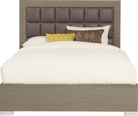 Dominique Gray 3 Pc Queen Panel Bed