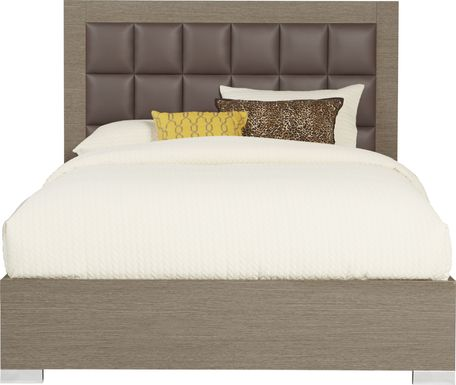 Dominique Gray 3 Pc Queen Panel Bed