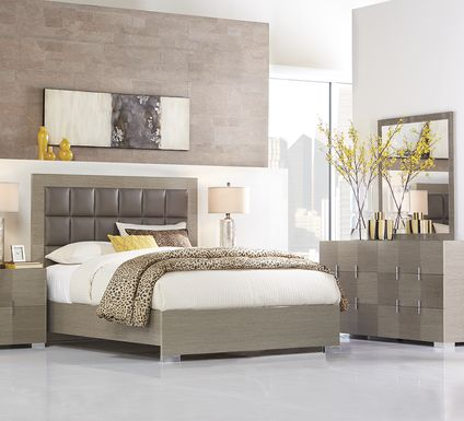 Dominique Gray 5 Pc King Panel Bedroom