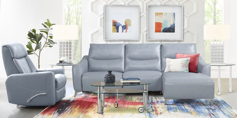 Domio Hydra Leather 3 Pc Sectional