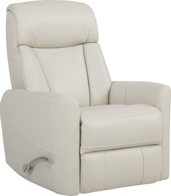 Domio Stone Leather Swivel Glider Recliner