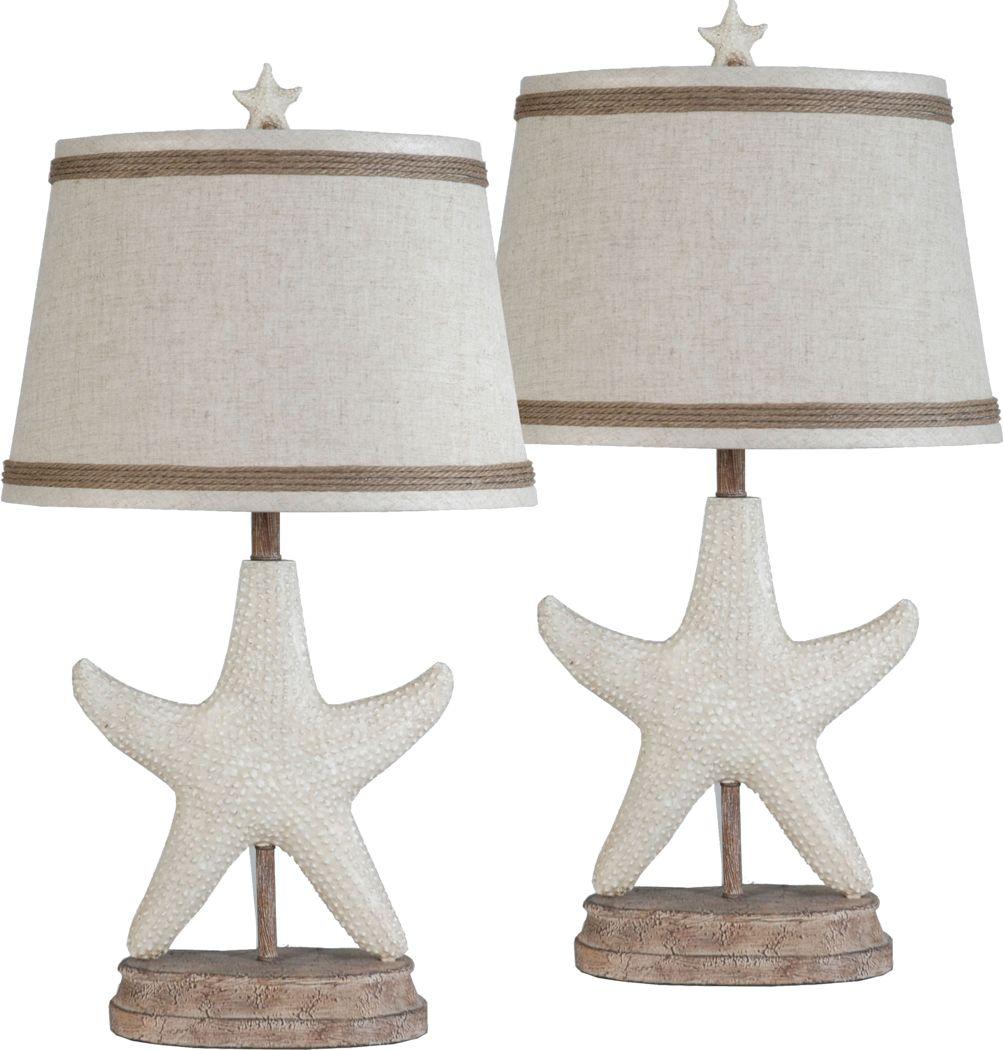 Doral Bay White Lamp, Set of 2