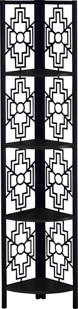 Dorminey Black Bookcase