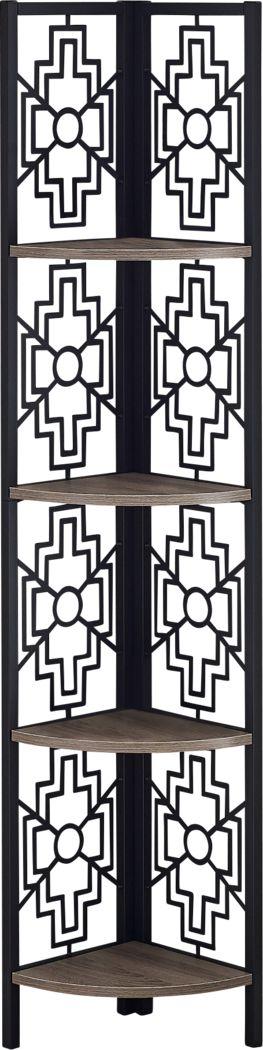 Dorminey Taupe Bookcase