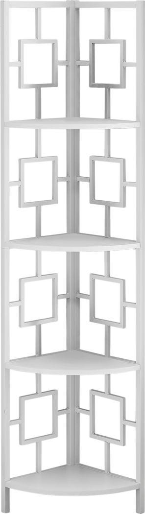 Dorminey White Bookcase