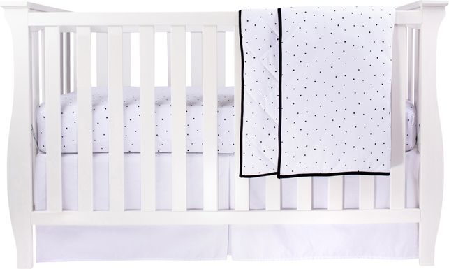 Dotville White 3 Pc Baby Bedding Set