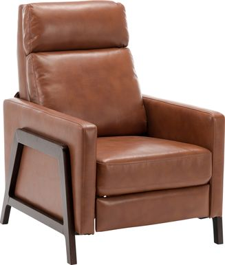 Doyers Brown Push Back Recliner