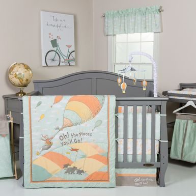 Dr. Seuss Oh, the Places You'll Go! Beige 5 Pc Baby Bedding Set