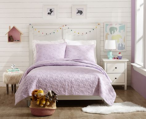 Draya Purple 3 Pc Full/Queen Comforter Set