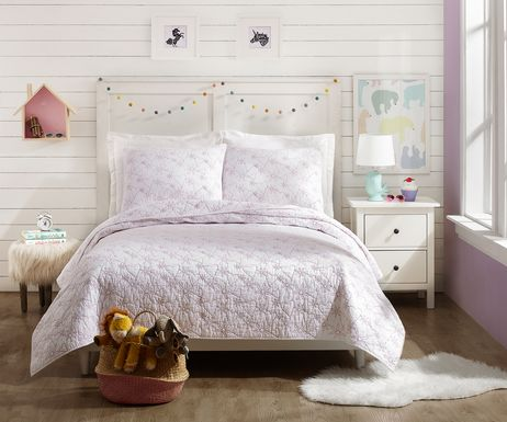 Draya White 3 Pc Full/Queen Comforter Set