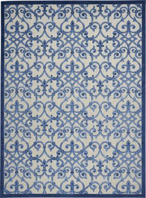Drayce Blue 8' x 11' Indoor/Outdoor Rug