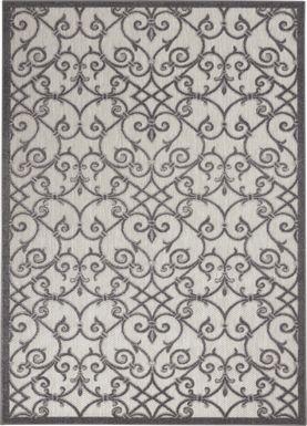 Drayce Gray 8' x 11' Indoor/Outdoor Rug