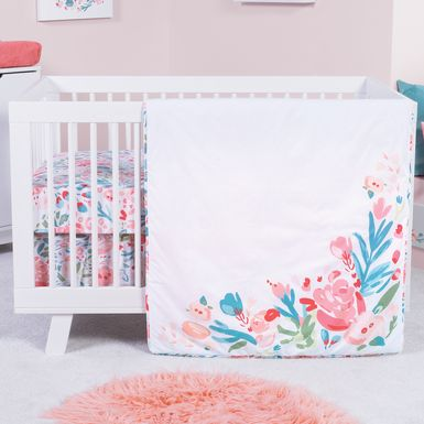 Dream Blossom Pink 3 Pc Baby Bedding Set