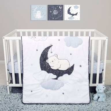 Dreamy Bear White 4 Pc Baby Bedding Set