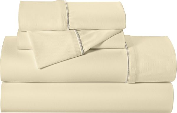 Dri-Tec Performance Champagne 4 Pc Full Bed Sheet Set