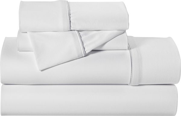 Dri-Tec Performance White 4 Pc Full Bed Sheet Set