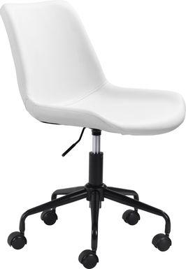 Duckney White Office Chair