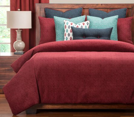 Duff Bridge Red 12 Pc King Duvet