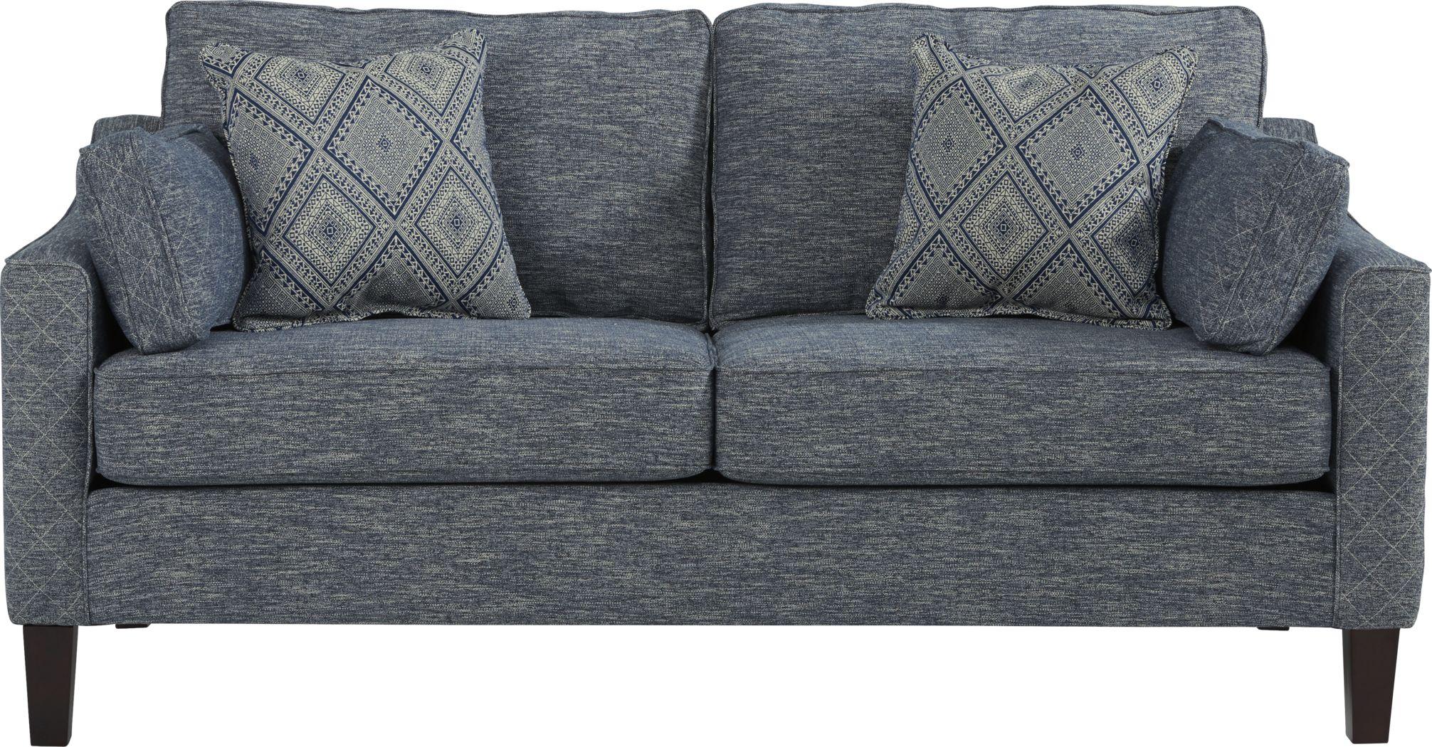Durant Place Blue Sofa