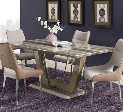 Duvall Tan 5 Pc Dining Room