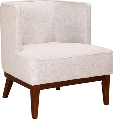 Earhart Beige Accent Chair