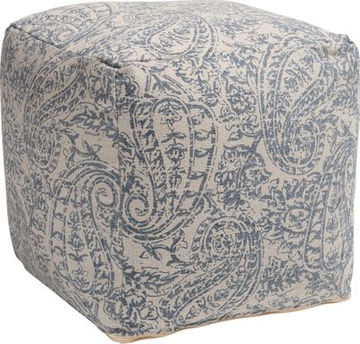 Earleigh Gray Pouf