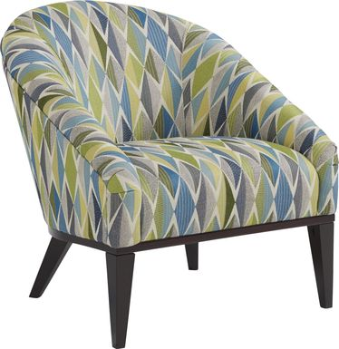 East Side Agler Blue Accent Chair