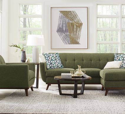 East Side Avocado Chaise Sofa