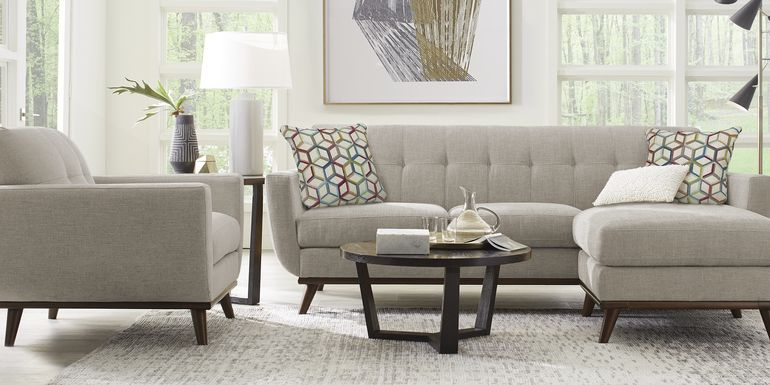 East Side Mushroom 2 Pc Sectional