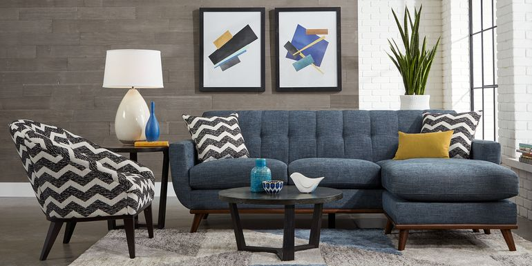 East Side Sapphire Chaise Sofa