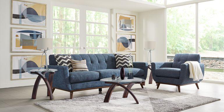 East Side Sapphire 4 Pc Living Room