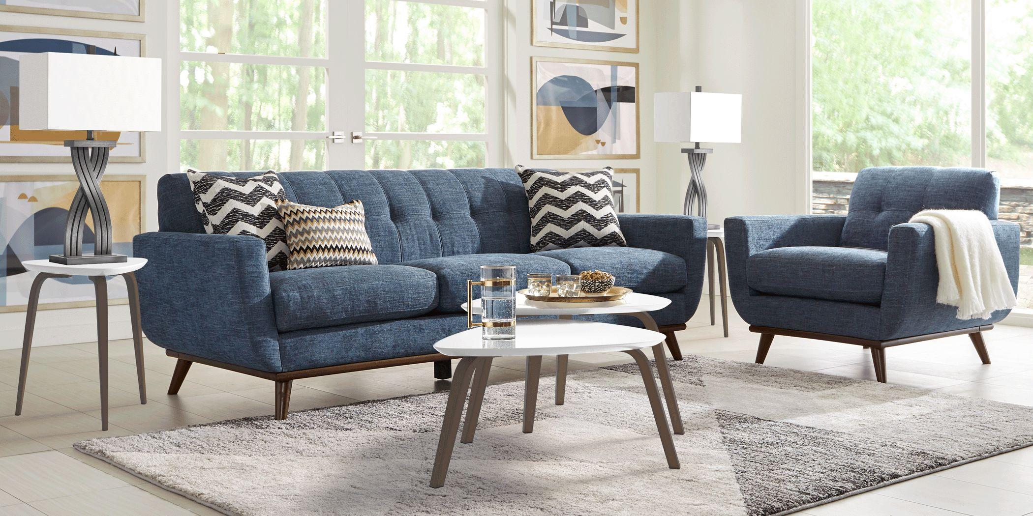 East Side Sapphire 6 Pc Living Room