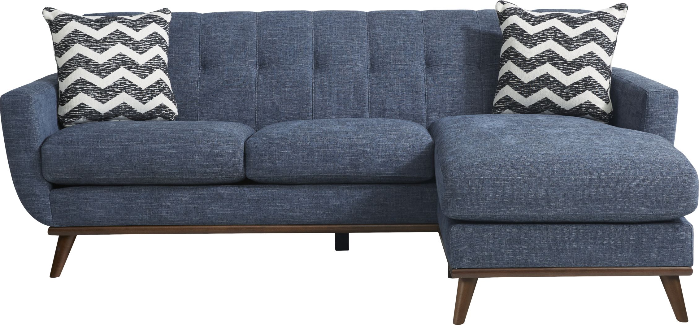 East Side Sapphire Chaise Sofa