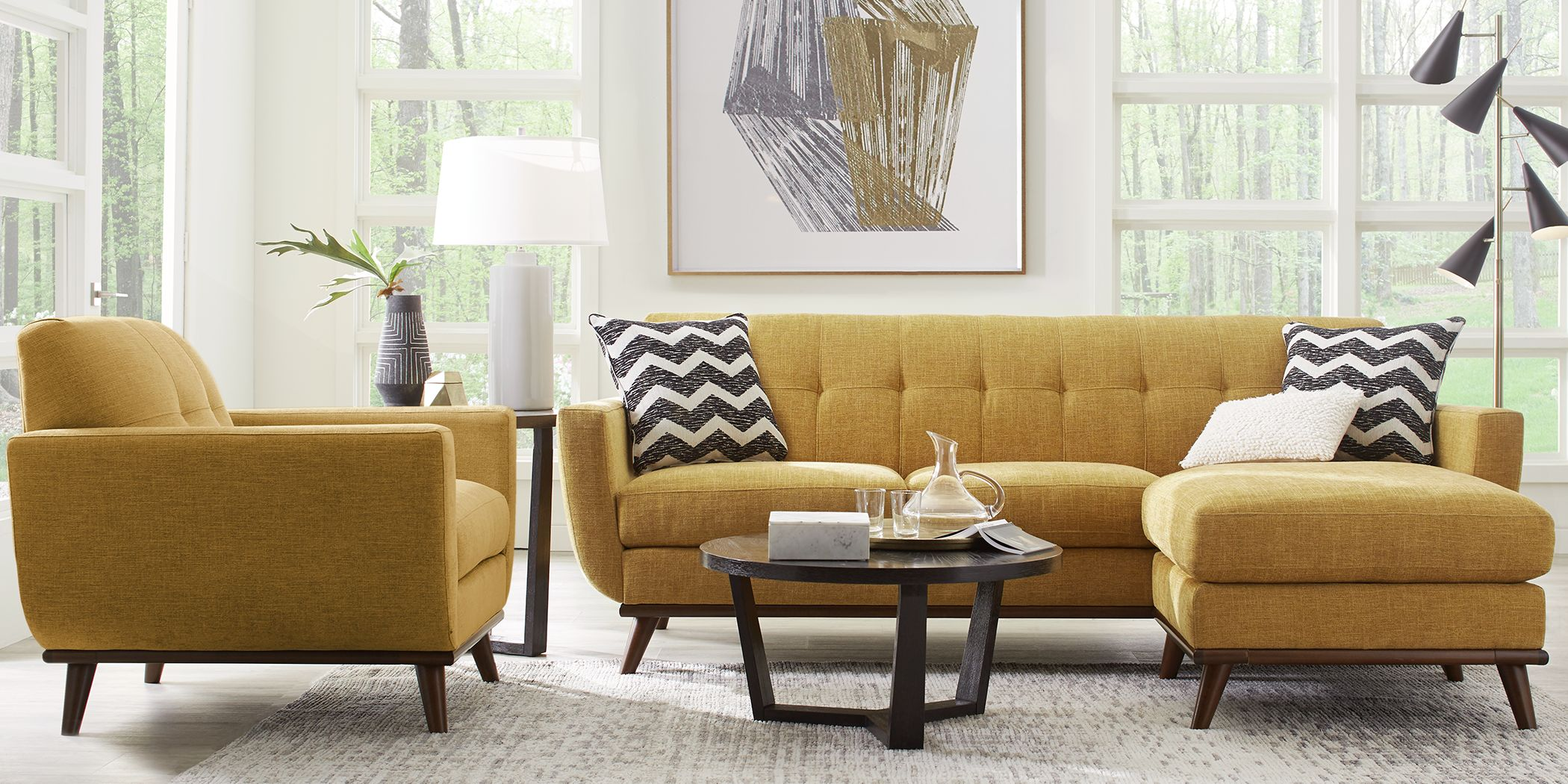 East Side Sunflower Chaise  Sofa