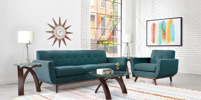 East Side Teal 4 Pc Living Room