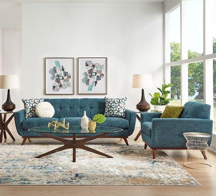 East Side Teal 5 Pc Living Room