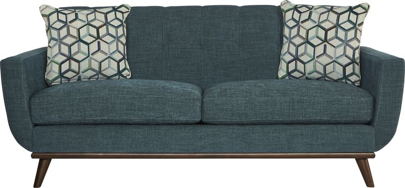 East Side Teal Apartment Sofa