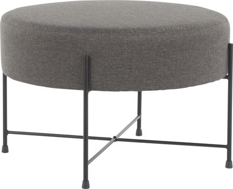 Eastchase Charcoal Ottoman