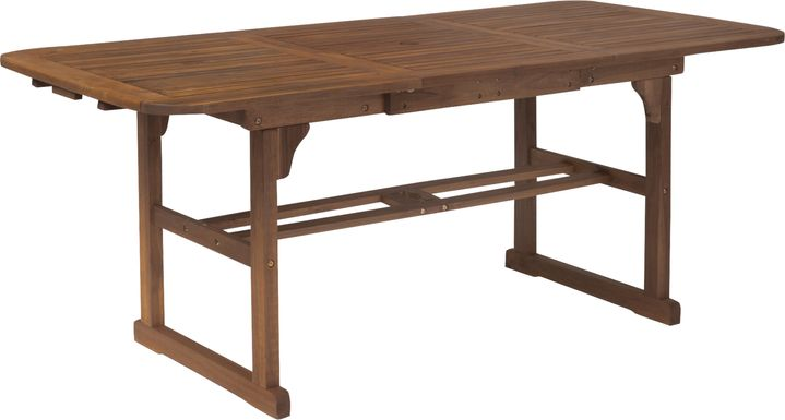 Eastline Dark Brown Outdoor Dining Table