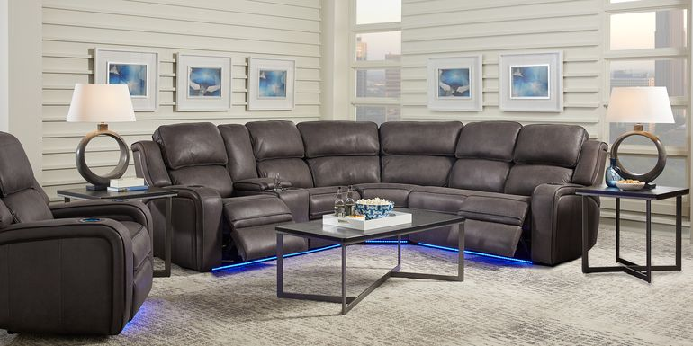 Eastview Charcoal 3 Pc Dual Power Reclining Sectional