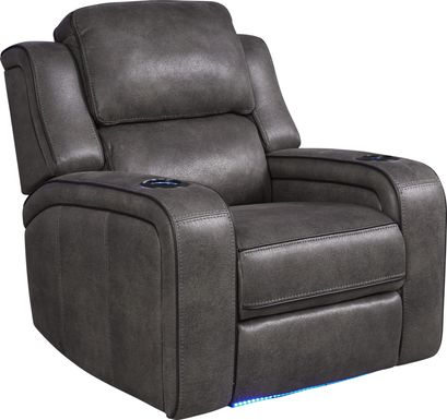 Eastview Charcoal Dual Power Recliner
